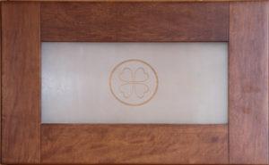Фасад София накладка на ящик со стеклом клевер