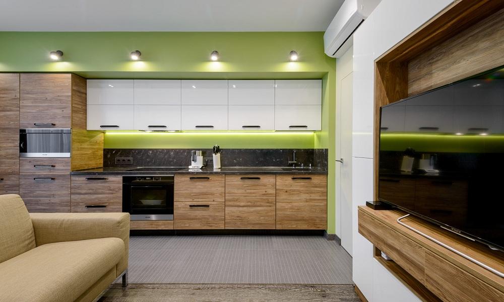 Кухня с фасадами CLEAF