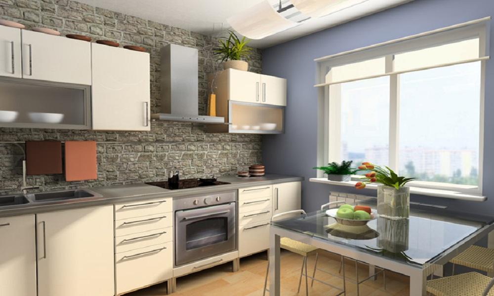 Кухня с фасадами из ПВХ пленки