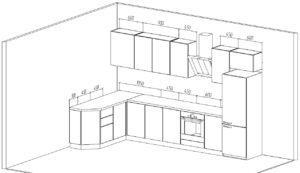 Стоимость угловой кухни