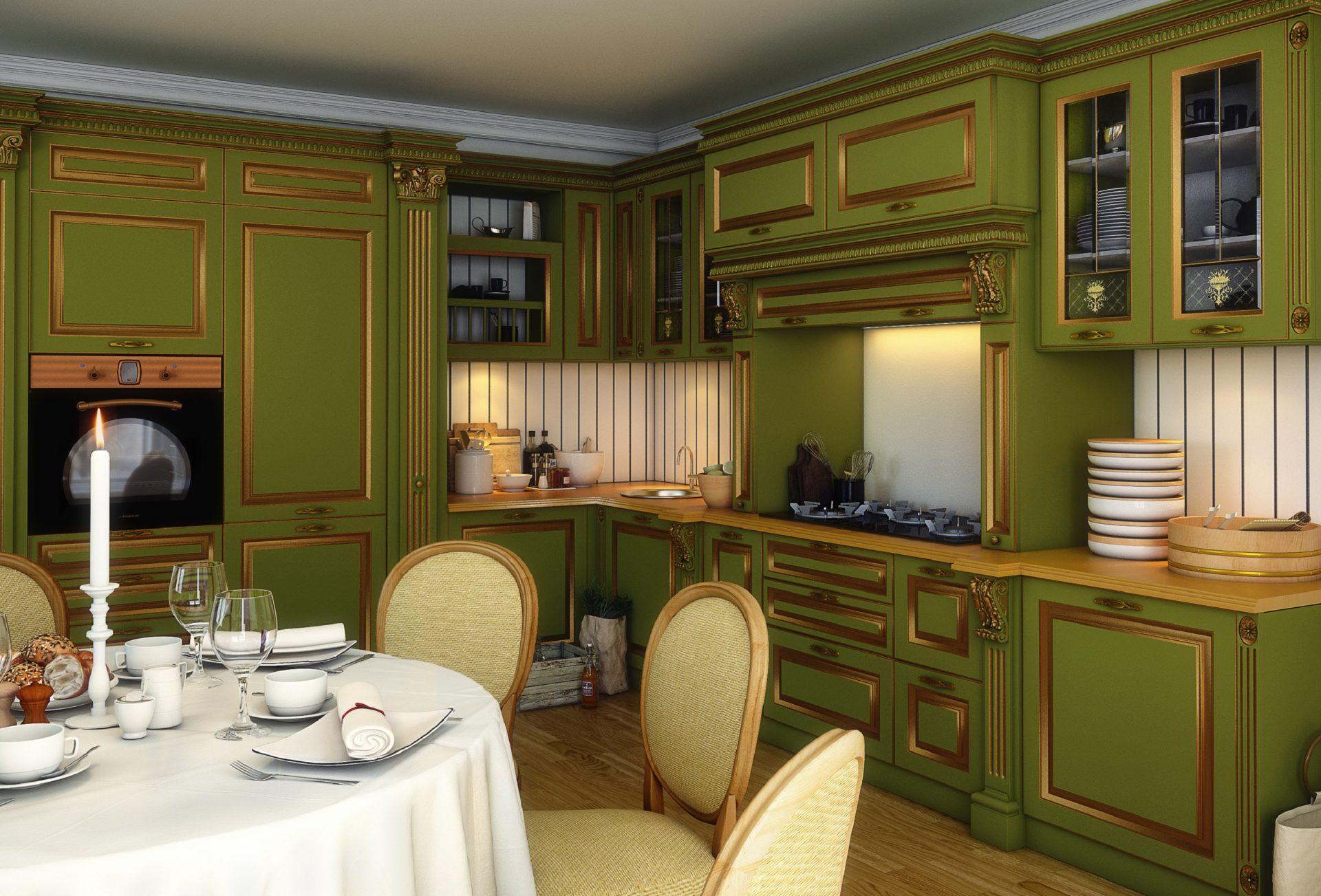 оливковая кухня классика