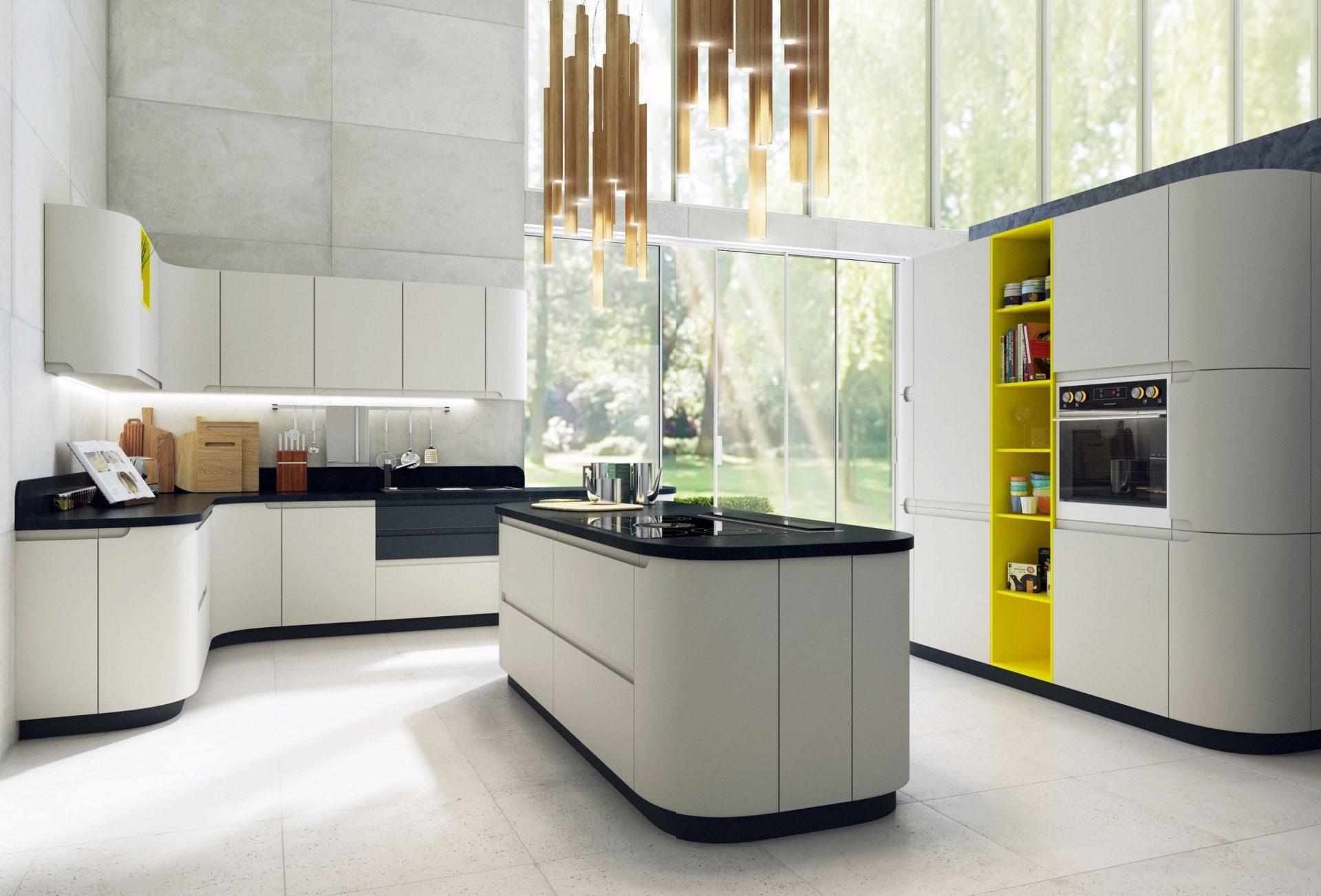 Белая матовая кухня LUCIDO PRO