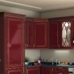 Бордовая кухня DIAMANTE