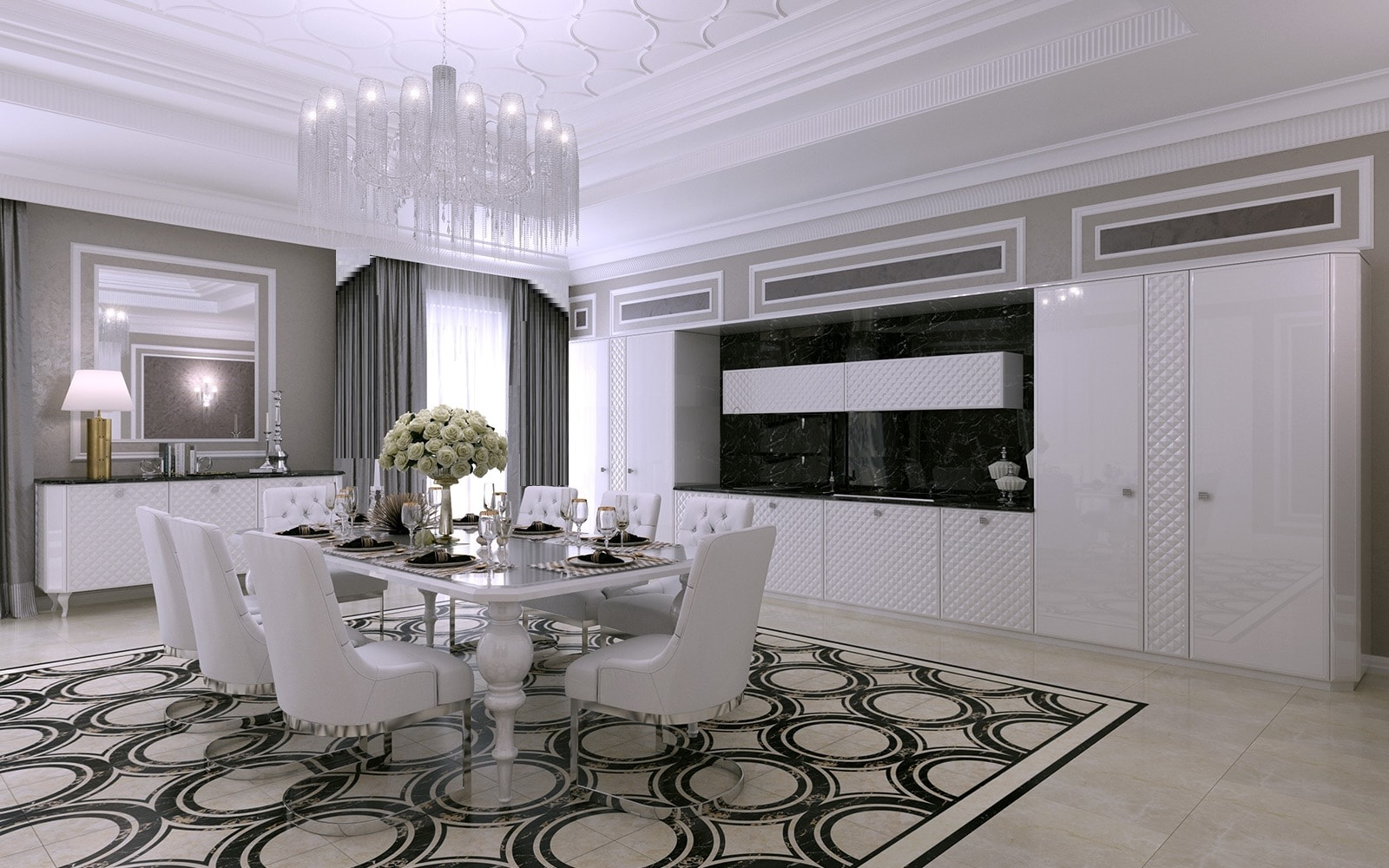 кухня белая эмаль глянец FORTEZZA