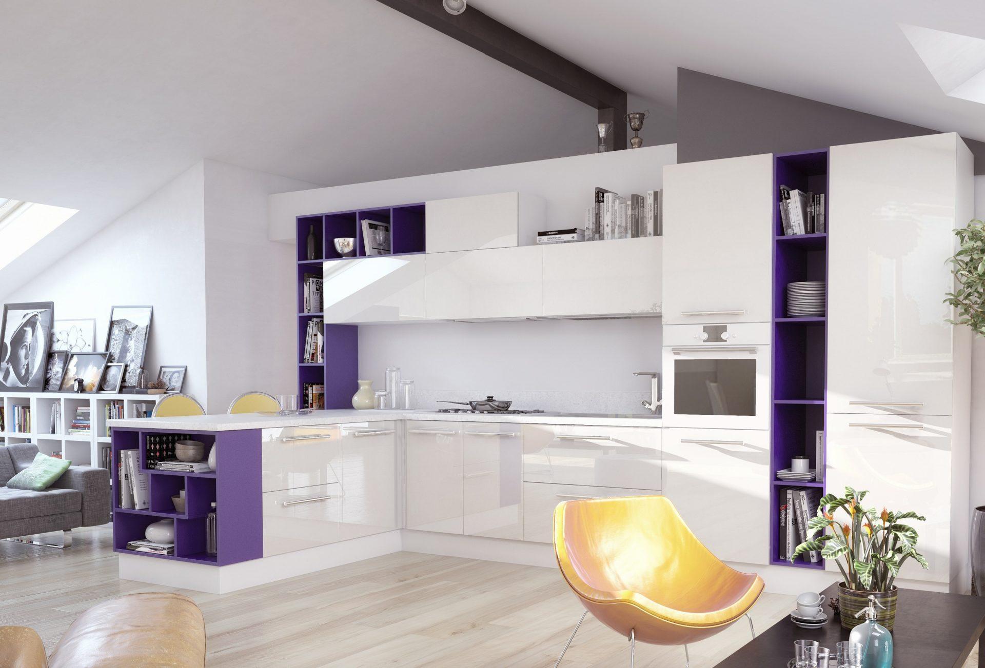 Белая кухня в современном стиле MIX