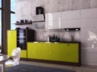 Кухня белый с лаймом NORMA LUX
