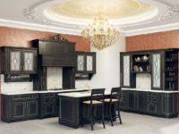 Черная классическая кухня