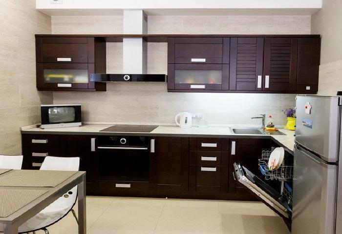 Кухня гостиная венге