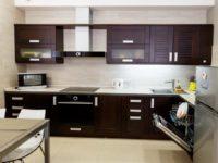 Кухня гостиная венге из массива березы
