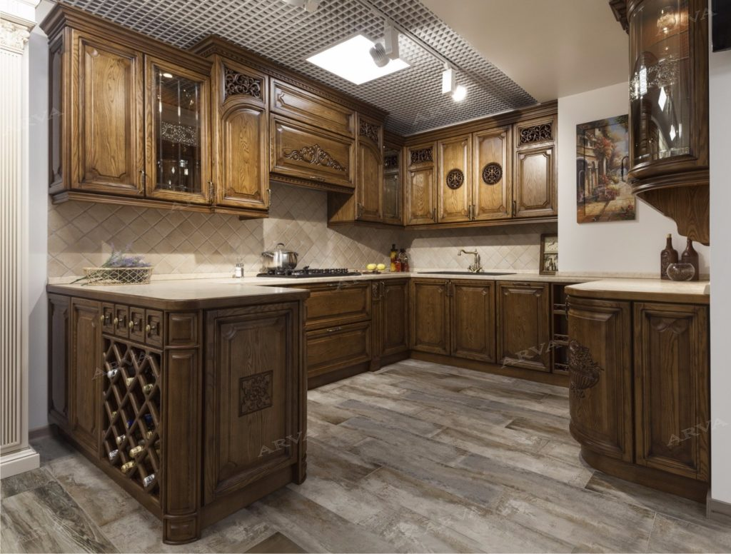 Кухня из ясеня ARVA