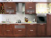 Прямая кухня в современном стиле из массива ARVA