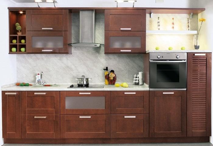 Прямая кухня в современном стиле на заказ в