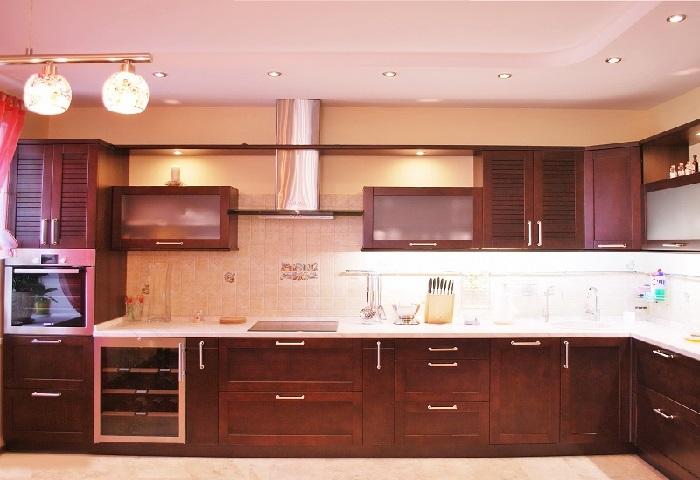 Кухонный гарнитур с угловой мойкой под заказ в